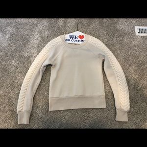 Burberry Cashmere Sweater with Wool Sleeve Accent